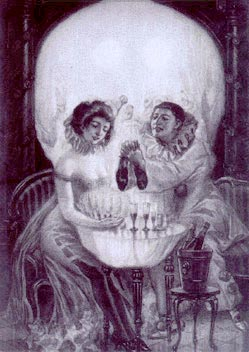 Do you see a couple or a skull?