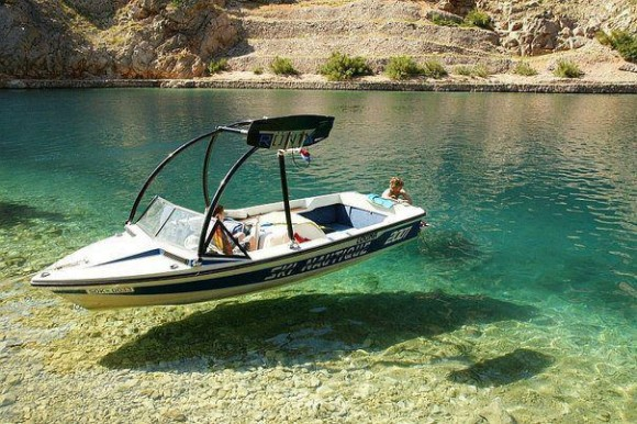 Floating Boat Illusion
